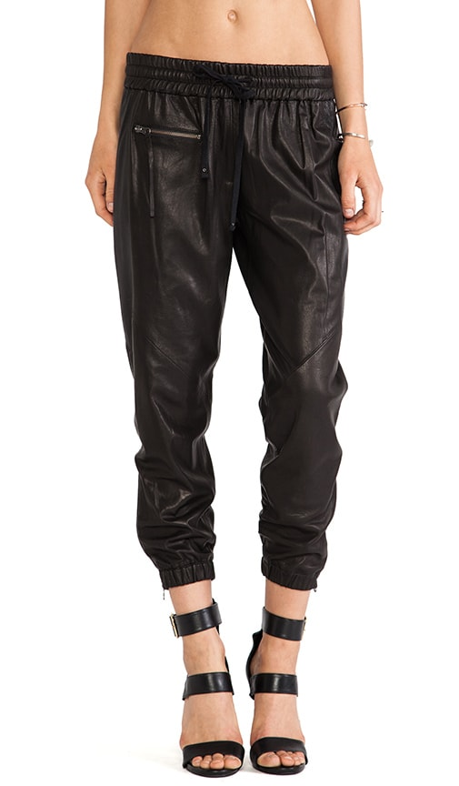 Perforated Leather Trackpant