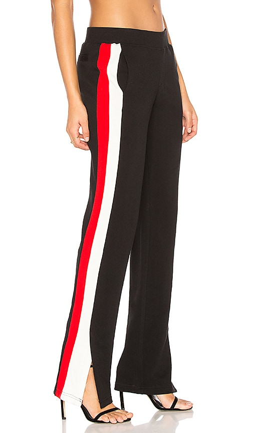 Pam & Gela Sport Stripe Pant in Black