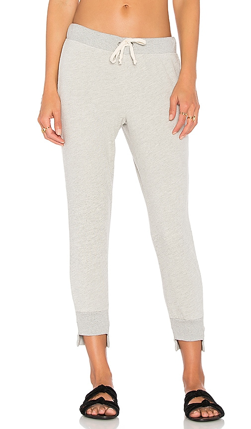 Pam & Gela Sweatpant with Uneven Hem in Gray