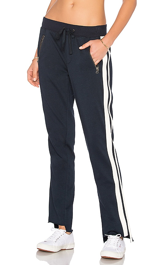 Pam & Gela Side Stripe Trackpant in Navy