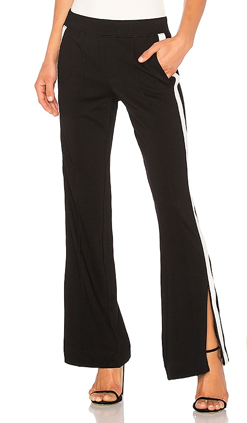 Pam & Gela Wide Leg Trackpant in Black