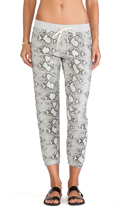Printed Basic Crop Pant