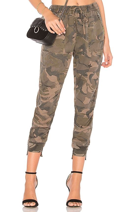 d2049a3b47f13 Pam & Gela Offset Cuff Pant in Camo & Star Print | REVOLVE