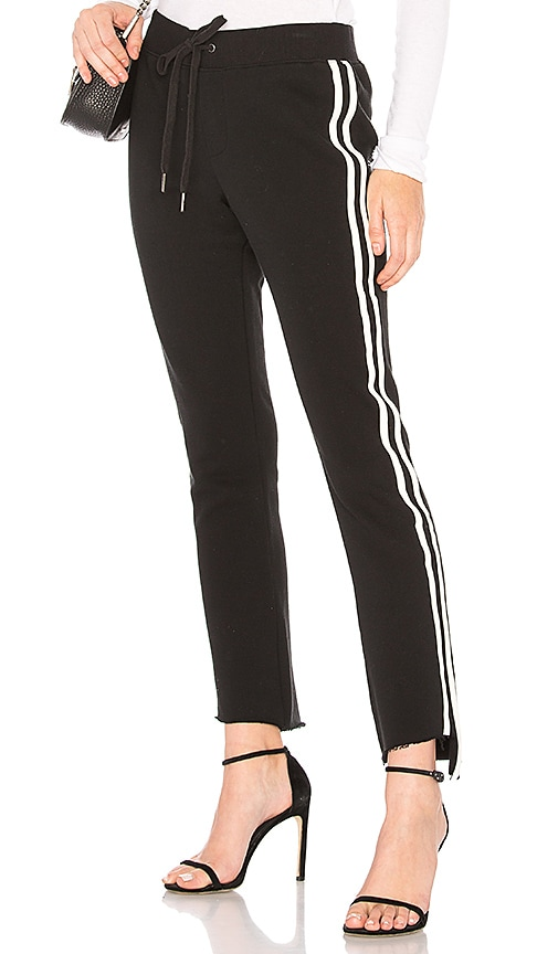 Pam & Gela Step Hem Crop Pant in Black