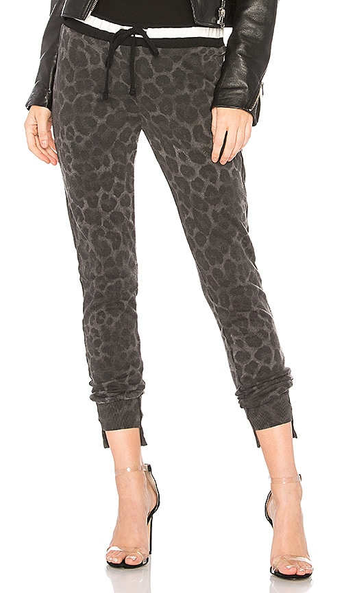 Pam & Gela Off Set Cuff Pant in Charcoal