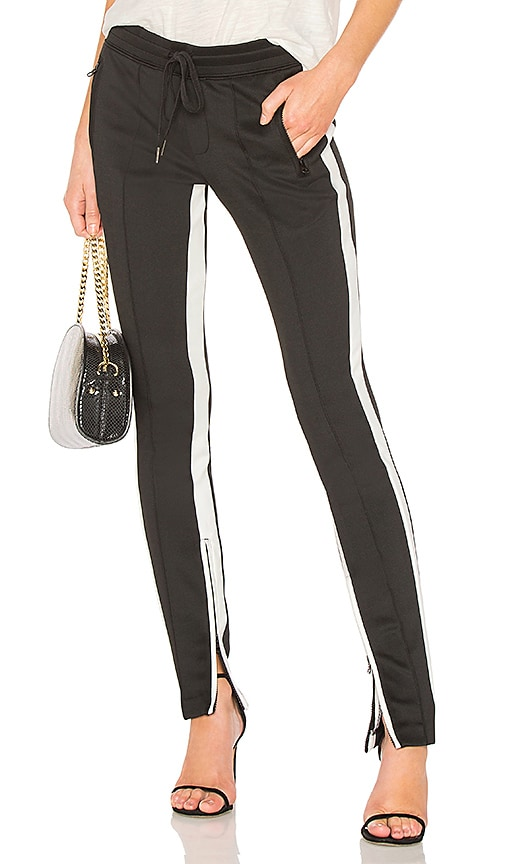 Pam & Gela Low Rise Cigarette Sweatpant in Black