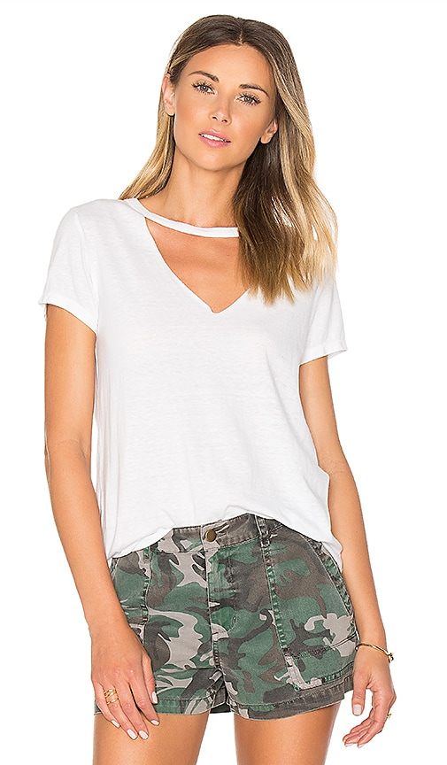 Pam & Gela Open Chest Tee in White