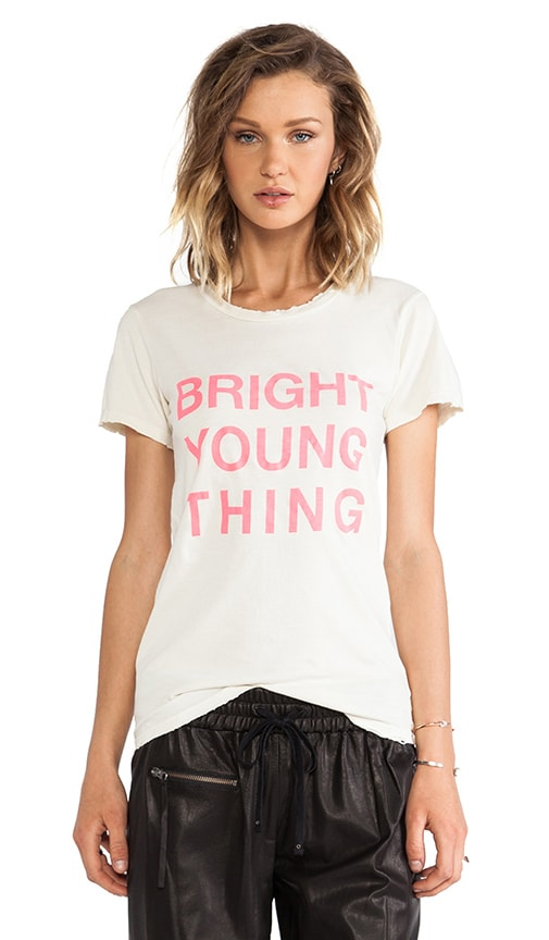Bright Young Thing Distressed Logo Tee