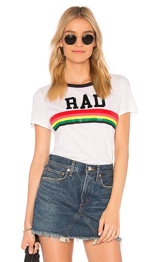 Pam & Gela Rad Rainbow Tee in White