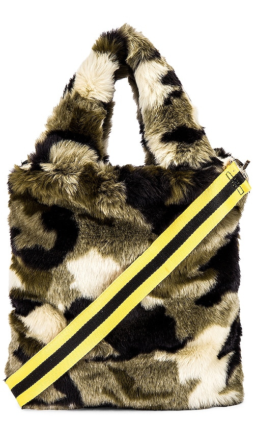 Camo Faux Fur Bag