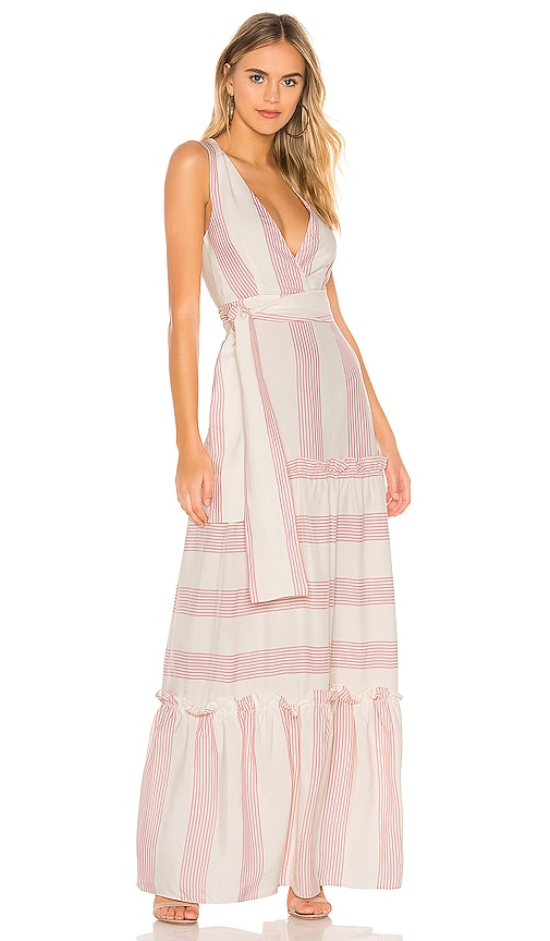 Paper London Zoe Maxi Dress in Spellbound Pink & Ivory | REVOLVE