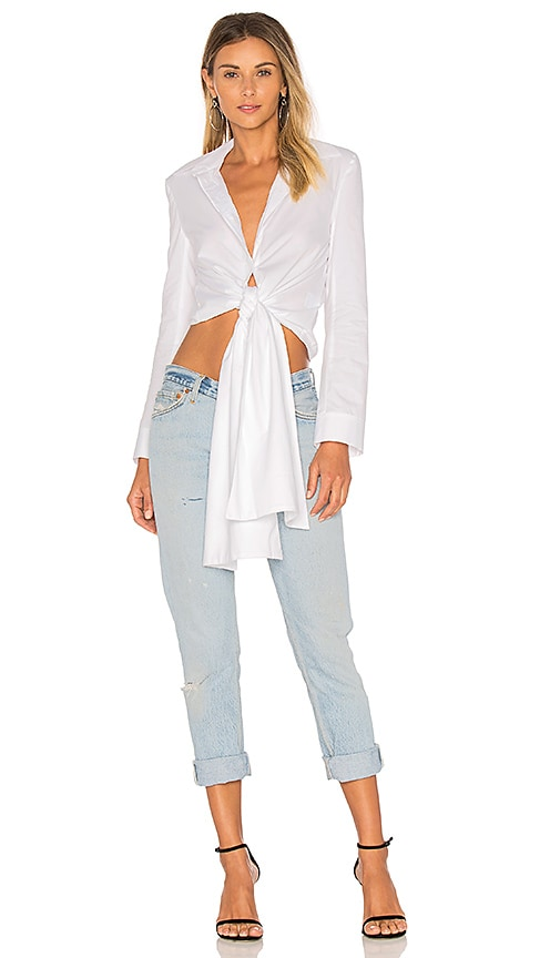 Paper London Bow Shirt in White