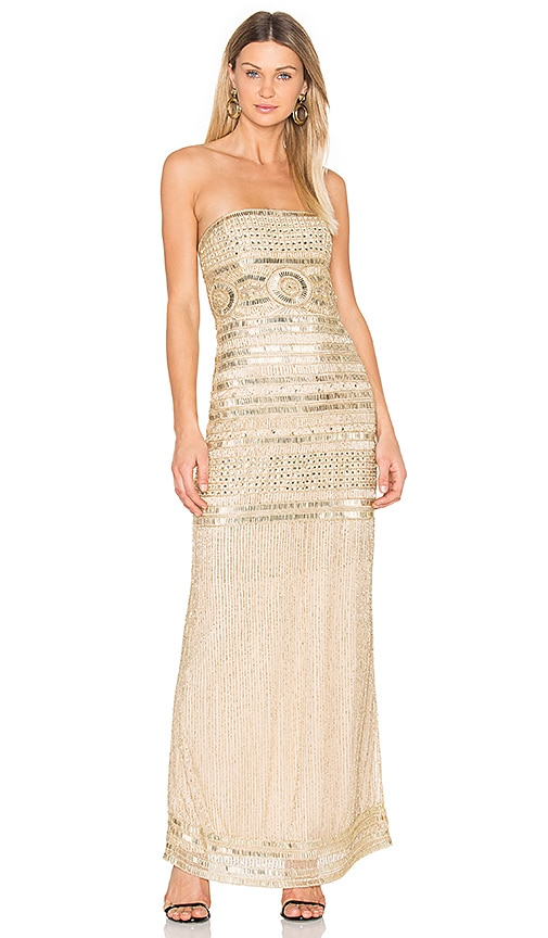 Parker Black Aubrey Dress in Metallic Gold