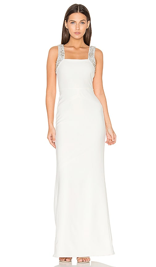 Parker Black Valerie Dress in White
