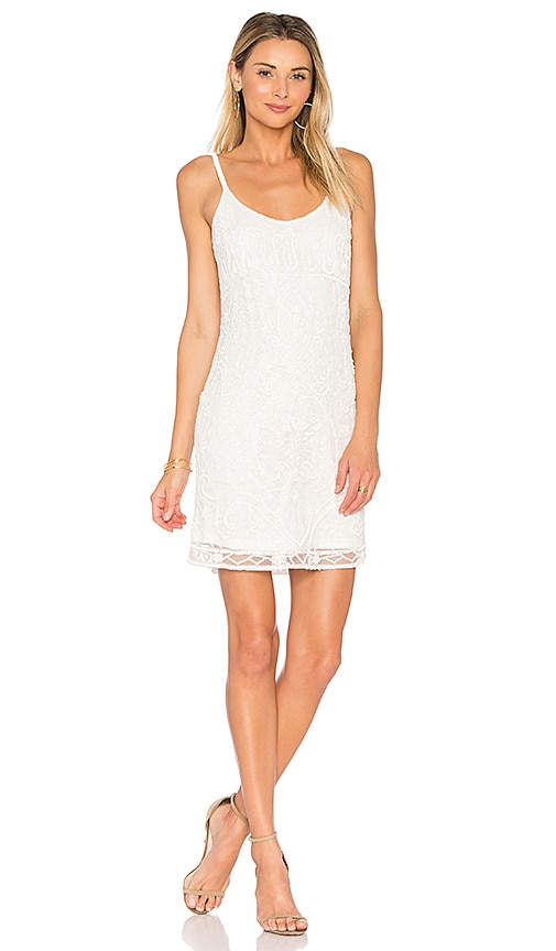 Parker Black Hayden Dress in White