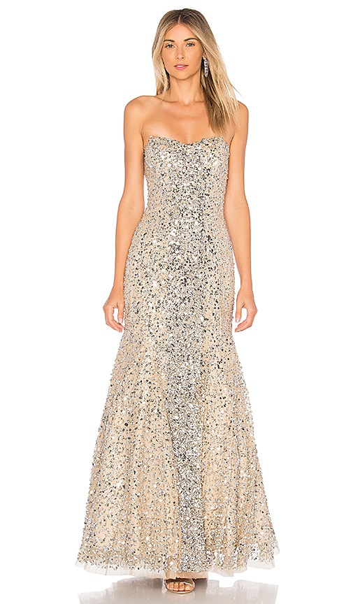 Parker Black Renee Embellished Gown in Silver | REVOLVE