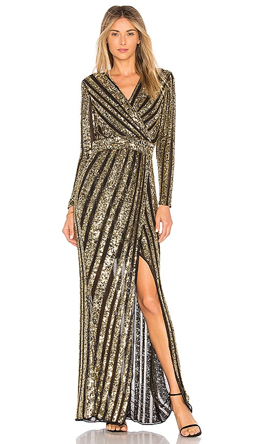 Parker Black Joyce Embellished Gown in Gold | REVOLVE