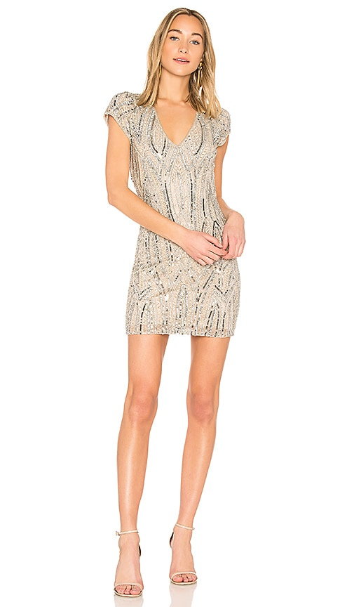 Parker Black Serena Dress in Metallic Silver