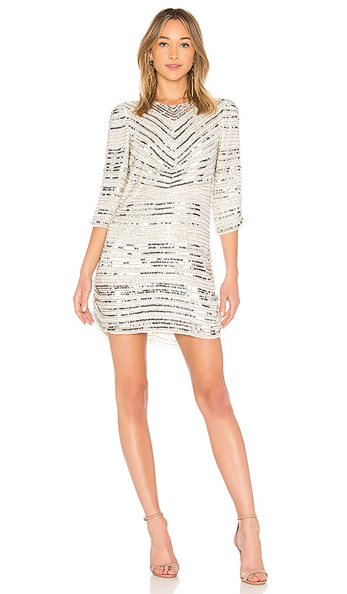Parker Black Petra Dress in White