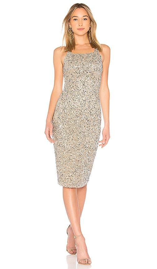 Parker Black Sage Dress in Silver