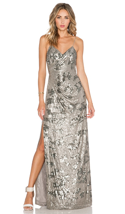 Parker Black Dita Sequin Dress in Gray