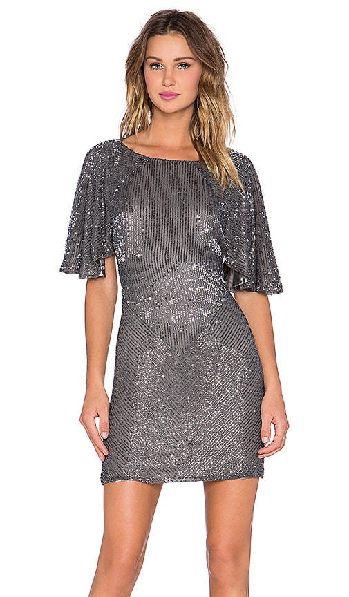 Parker Black Fiona Embellished Dress in Grey