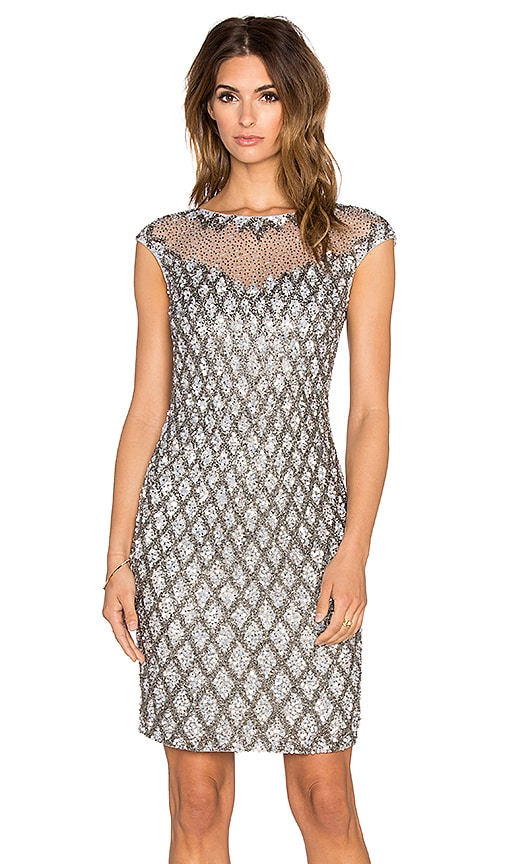 Parker Black Montclair Embellished Dress in Grey