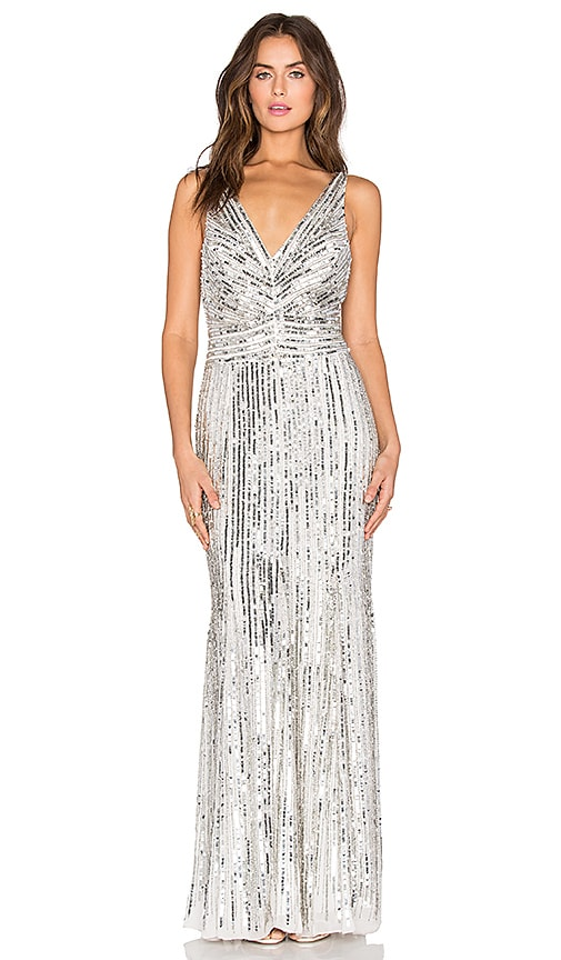 Parker Black Dawson Dress in Metallic Silver