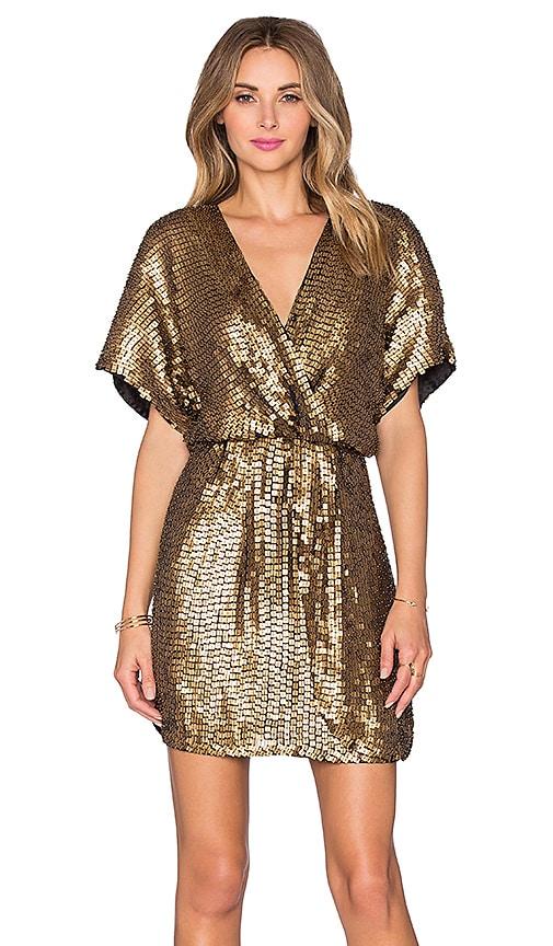 Parker Black Nole Sequin Dress in Gold