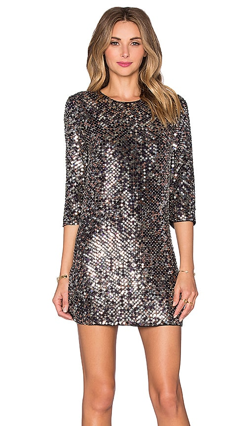Parker Black Petra Sequin Dress in Multi