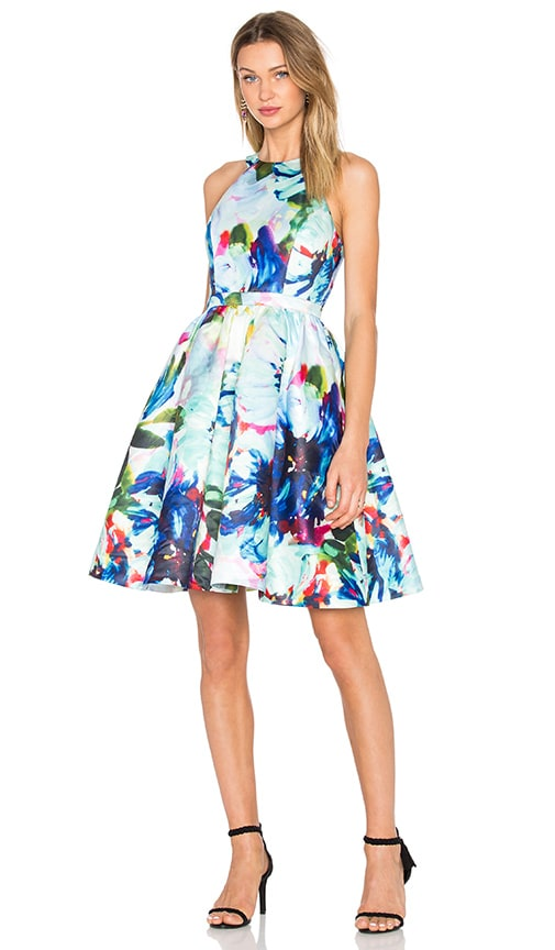 Parker Black Christine Dress in Peony Corsage