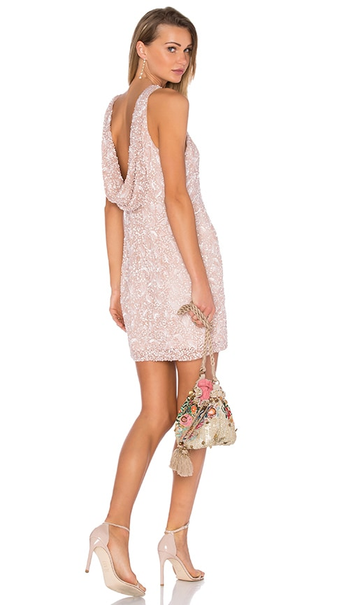Parker Black Hannah Embellished Dress in Blush