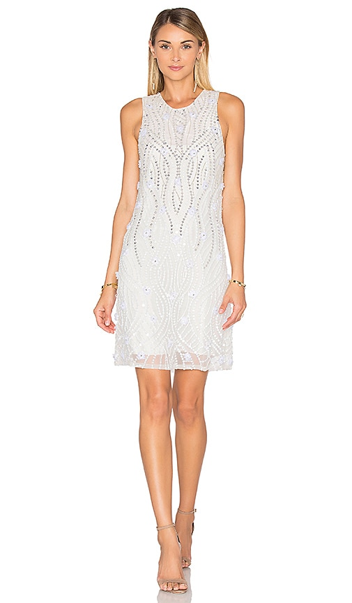 Parker Black Allegra Embellished Dress in White