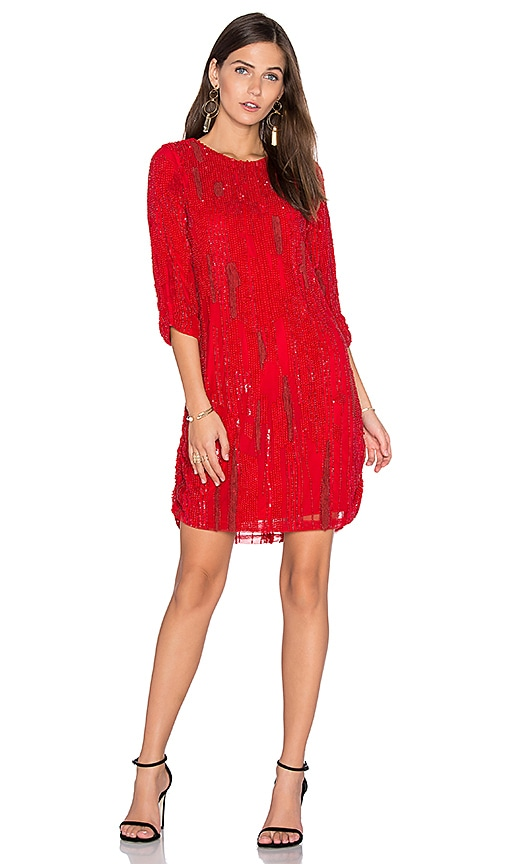 Parker Black Petra Dress in Red