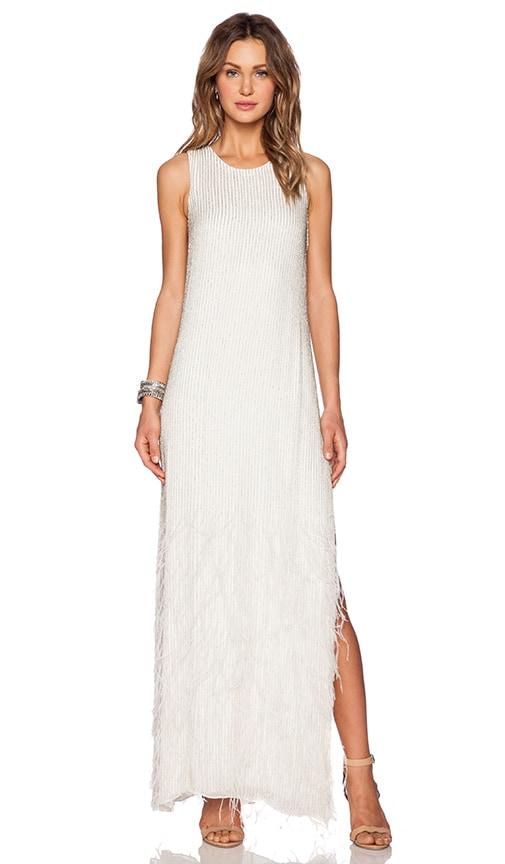 Parker Black Ryland Sequin Dress in White