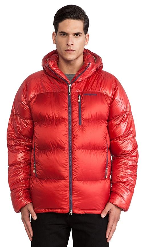 bf1b86899488 Patagonia PARKA DOUDOUNE FITZ ROY en Cochineal Red & El Cap Khaki ...