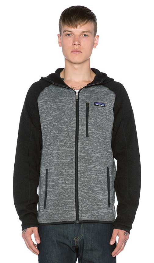 Patagonia Better Sweater Hoody in Nickel & Forge Grey