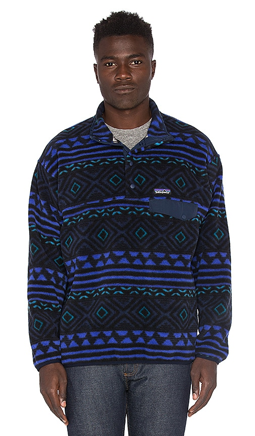 Patagonia Synchilla Snap-T Pullover in Blue