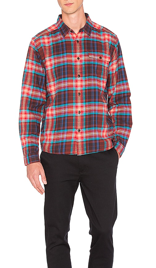 Patagonia Lightweight Fjord Flannel Shirt in Red