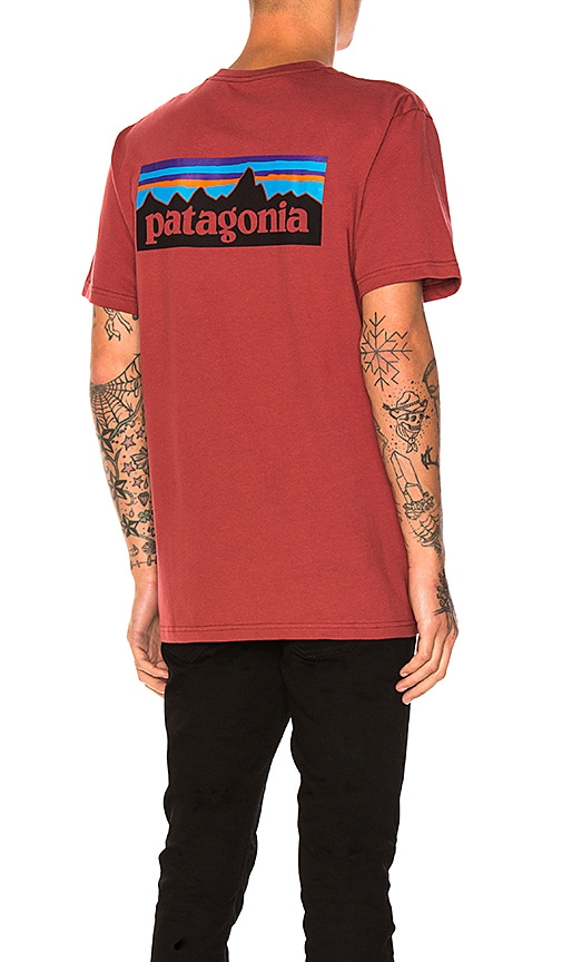 Patagonia P-6 Logo Tee in Red
