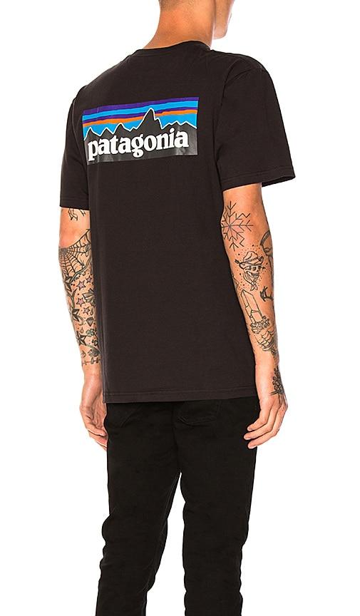 Patagonia P-6 Logo Tee in Black
