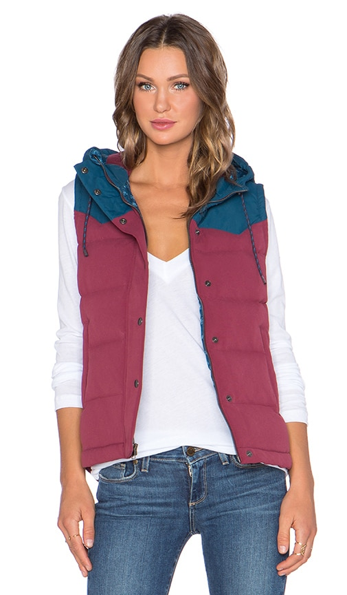 d9cc795b8 Patagonia Bivy Hooded Vest in Oxblood Red | REVOLVE