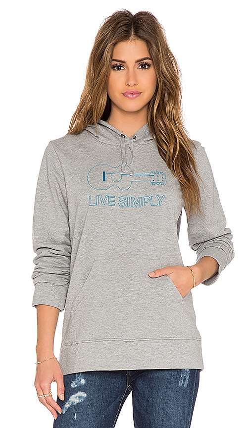 Patagonia Live Simply Guitar Hoodie in Feather Grey