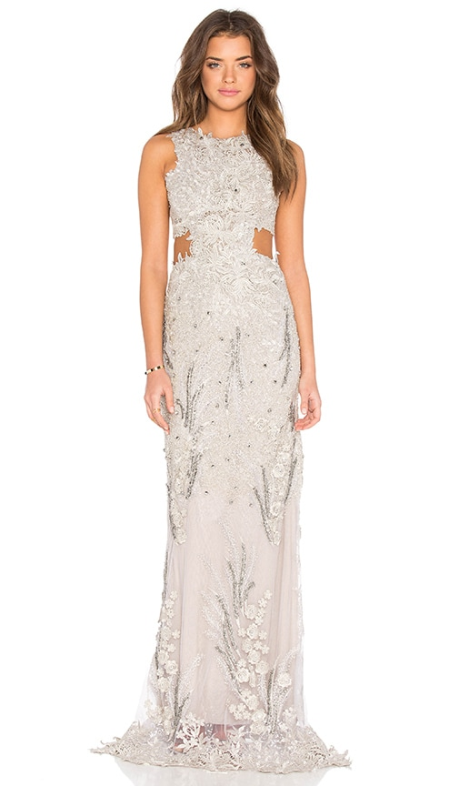 Embellished Sheer Gown