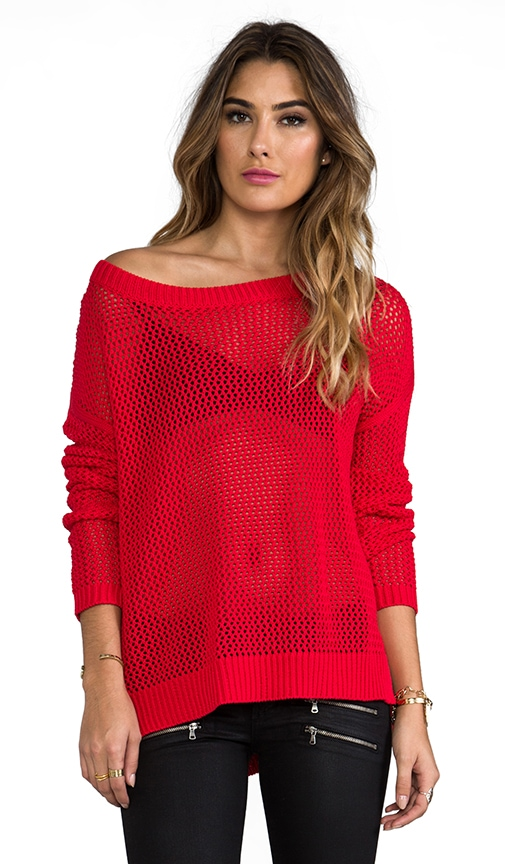 Boxy Pointelle Pullover