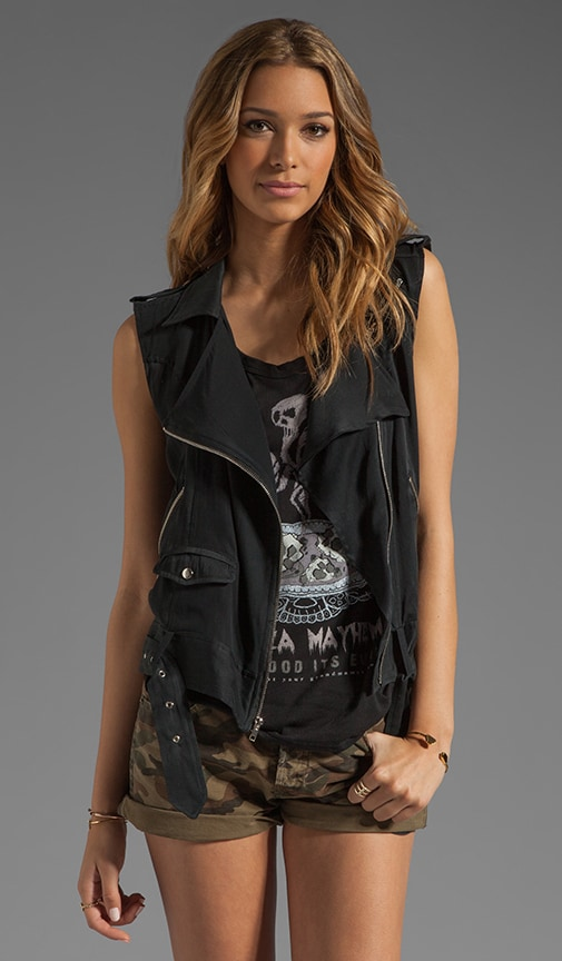 x the man repeller Flynn Sleeveless Moto Vest