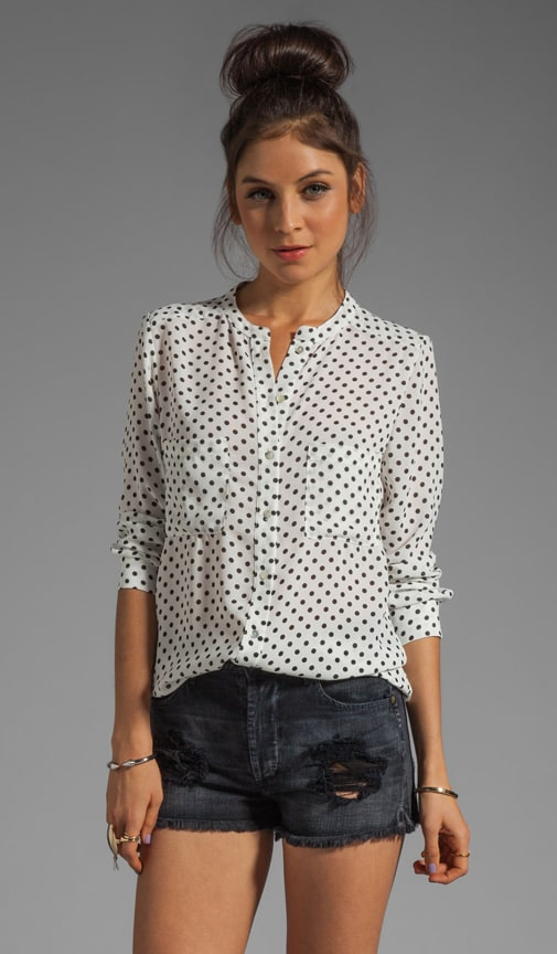 Patterson J. Kincaid Laurel Palo Alto Dot Blouse