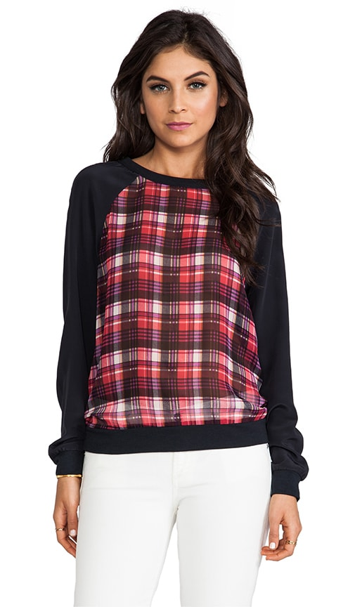Megan Plaid Sweatshirt