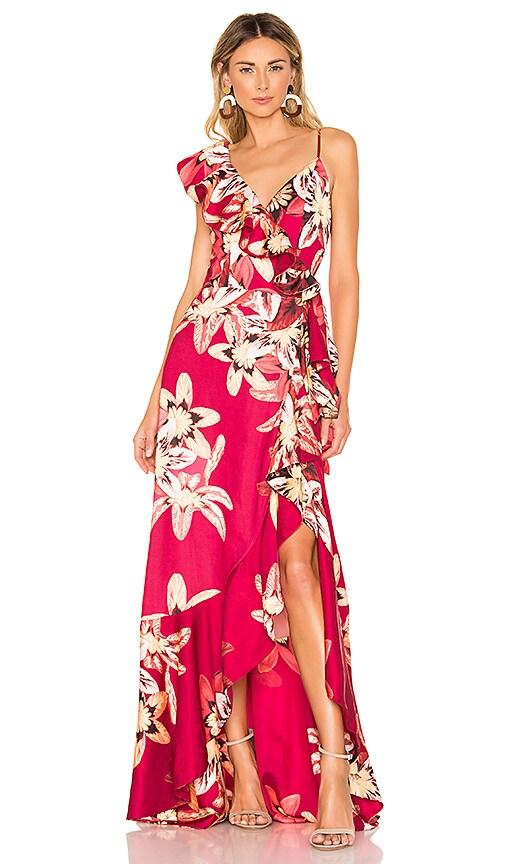 Floral Carmen Maxi Wrap Dress