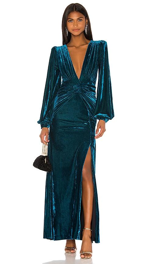 Velvet Long Sleeve Gown